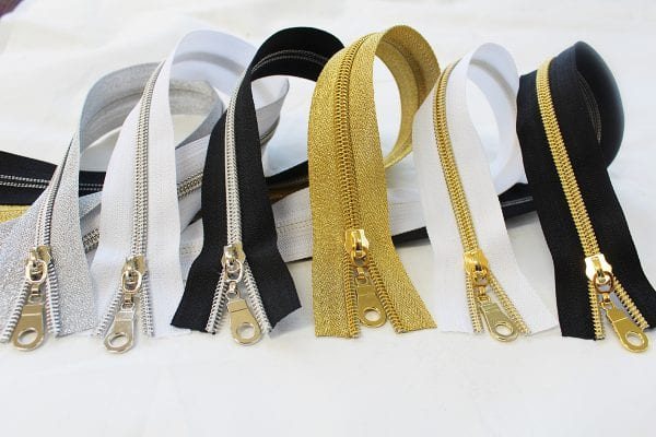 Nylon metallic zippers - Gold