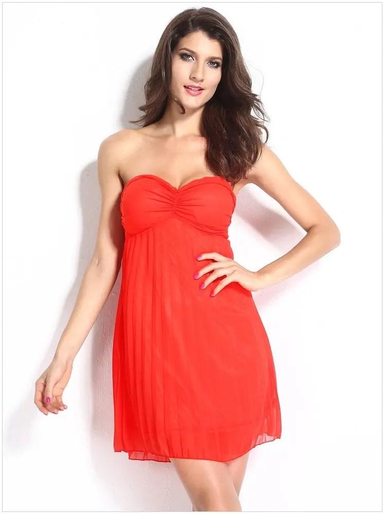 Cheap Sexy Sleeveless Short Orange Cocktail Dress Online