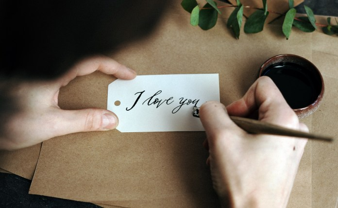 Letter writing is a romantic idea for long-distance relationships