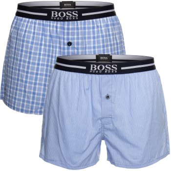 BOSS Woven Boxer Shorts With Fly 2-pack