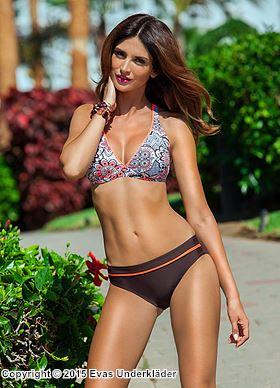 Bikini-set med detaljrikt mönster