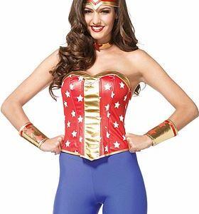 Wonder Woman-korsett, maskeraddräkt i 4 delar