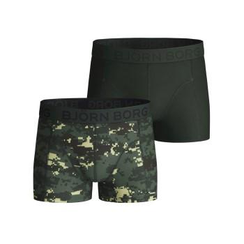 Björn Borg Kalsonger 2P Cotton Strech Shorts For Boys 2112 Camoflage bomull 158-164