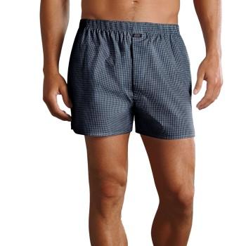 Jockey Kalsonger Woven Poplin Boxer Shorts Marin Rutig bomull Small Herr