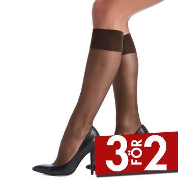 Oroblu Strumpbyxor Mi-Bas Jeune 20 Sheer Knee-Highs Mörkbrun polyamid One Size Dam