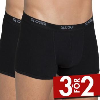Sloggi Kalsonger 2P For Men Basic Short Svart bomull XX-Large Herr