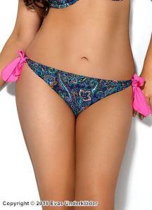 Bikinitrosa med paisleymönster, knytbar