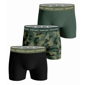 Björn Borg Kalsonger 3P Essential Shorts 2113 Militärgrön bomull Medium Herr