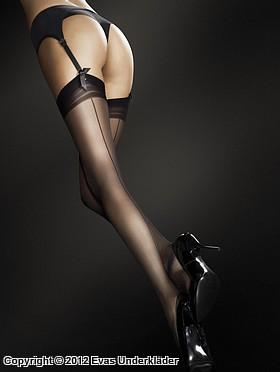 Exklusiva stockings med söm bak, mycket hög kvalité
