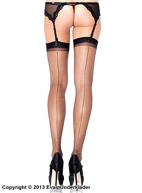 Stilrena stocking med söm bak