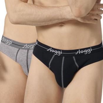 Sloggi Kalsonger 2P For Men Start Mini Svart/Grå bomull XX-Large Herr