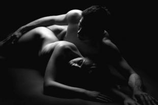 black and white erotic nude couples