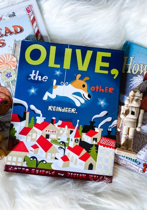 Christmas books to check out: Gingerbread Friends, Olive the Other Reindeer, How Santa Got His Job