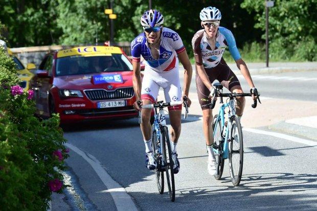 Bardet y Pinot en la ascensión final. Fuente: letour.fr