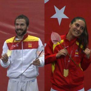 Campeones del Mundo Universitario (Matías izquierda, Rocío derecha), vía RFEKyDA