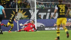 """""""Spieler des Spiels"""" en español """"el jugaor del juego"""", asi lo dio a conocer la Bundesliga en su sitio oficial. (Foto vía bundesliga.de)"""