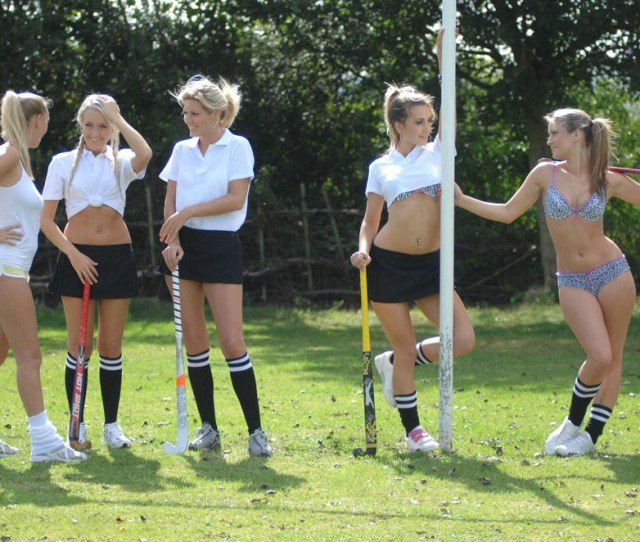 Holly Newberry And Her Field Hockey Friends Get Naked Outdoors And Their Sporty Bodies Are Hot Here And At St Mackenzies