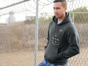 Sweat-shirt rugby à capuche pour homme