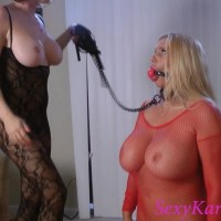 Karen Fisher Ball-Gagged Whipped Spanked Video