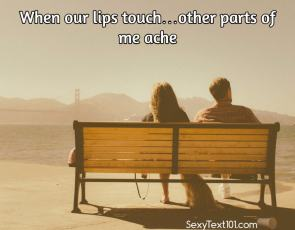 when our lips touch
