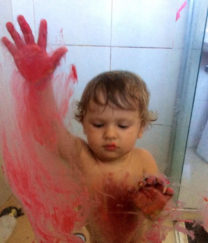 Psycho shower messy play