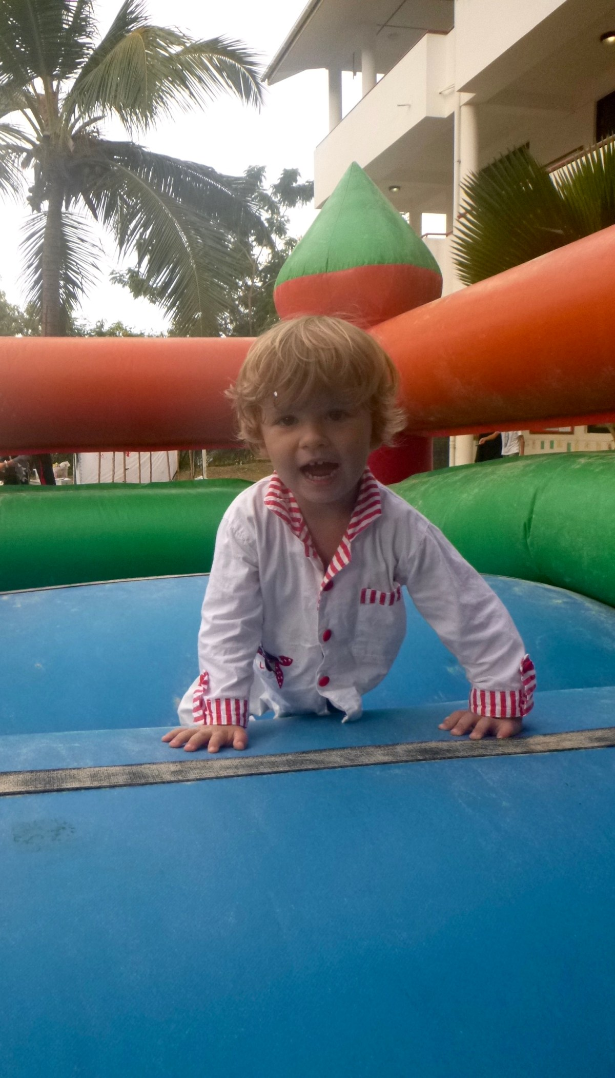 29 months old.  bouncy castle