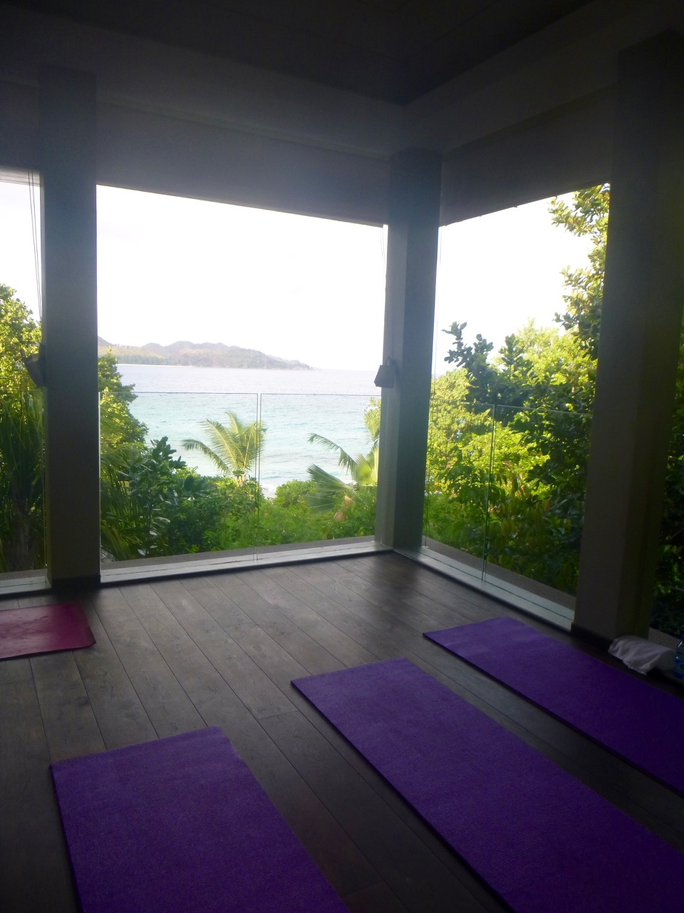Yoga at Raffles hotel Praslin