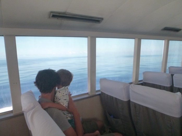 Air conditioned boat to the Hilton Labriz Silhouette island