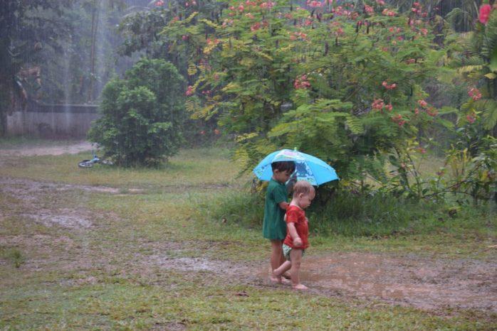 Splish Splash Splosh! Rain babies, loving the rain