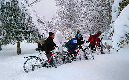 Seydişehirli Bisikletçiler Karda Kuğulu'da