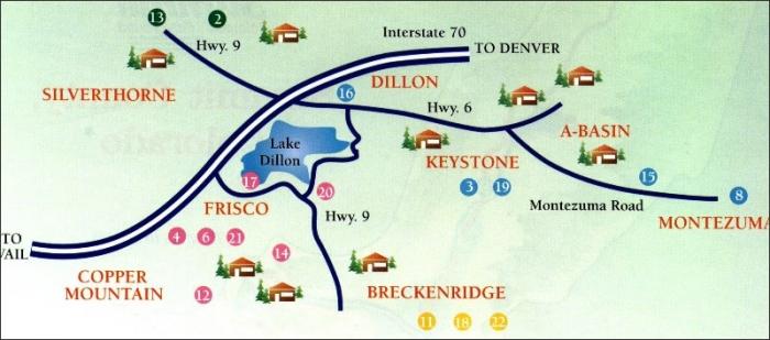Frisco Resorts Ski Co Map