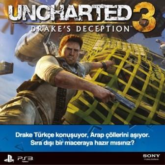 Muhteşem Oyun Uncharted 3′e Türkiye'den Muhteşem Sesler Hayat Veriyor