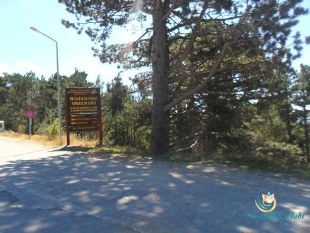 Uludağ Milli Park Karabelen Giriş Tabelası