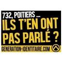 732 Sie riefen: 732!   Génération Identitaire in Poitiers
