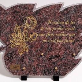Plaque funéraire 484 Roses