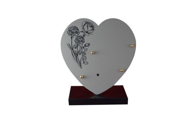 plaque funéraire en céramique bouquet de roses