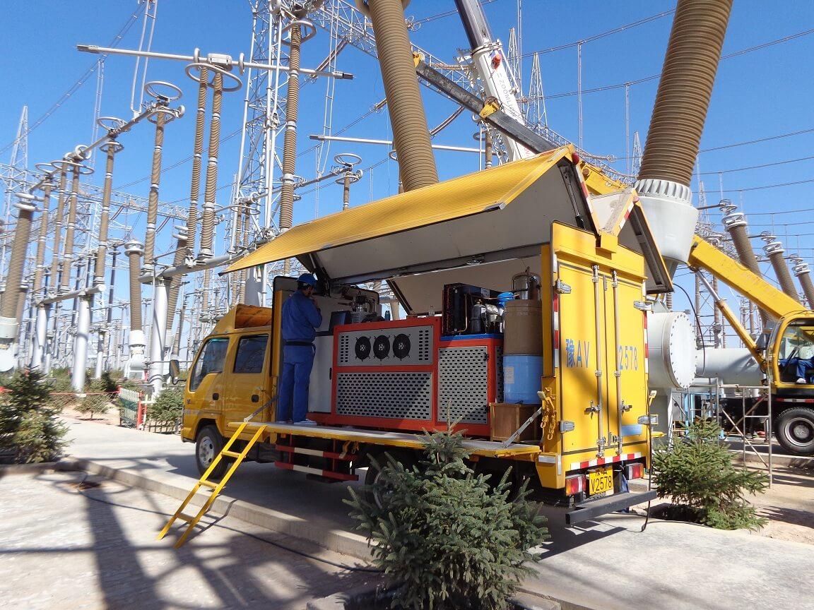 SF6 service in 750KV Substation