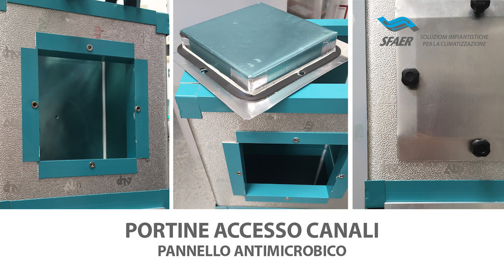 PORTINE ACCESSO CANALI ANTIMICROBICO
