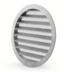 griglia ventilazione circolare alluminio