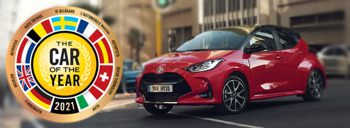"Toyota Yaris gewinnt die Wahl zum ""European Car of the Year 2021"""