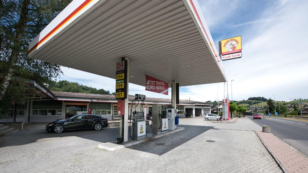 Tankstelle flückiger Autohaus in Auswil