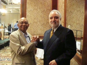 Willie Ratcliff, Danny Bakewell celebrate Danny's election as NNPA chair, Minneapolis 052609 by Amelia Ashley Ward