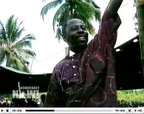 Ken Saro-Wiwa and eight other Ogoni freedom fighters were executed in 1995.