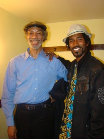 Photographer Siraj Fowler got this photo wit' Gil Scott Heron in his dressing room after the concert in San Francisco. These photos were taken with Siraj's camera. – Photo: Minister of Information JR