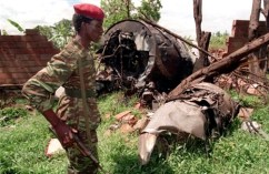 The plane carrying Rwanda President Juvénal Habyarimana and Burundi President Cyprien Ntaryamira was shot down on April 6, 1994, their assassination sparking the Rwandan Genocide. - Photo: Jean Marc Boujou, AP