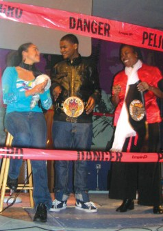 Some of the champions: CC, third place; Ben, first place; and Queennandi aka Superbabymama, last year's first place winner