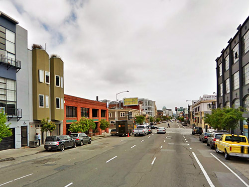 Folsom Street as an example of a mixed-use street
