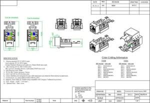 Cat 5E RJ45 110 Type Shielded Keystone Jack | SFCable