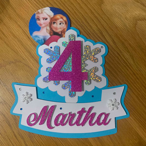 Frozen Princesses Cake Toppers by Bespoke & Bling