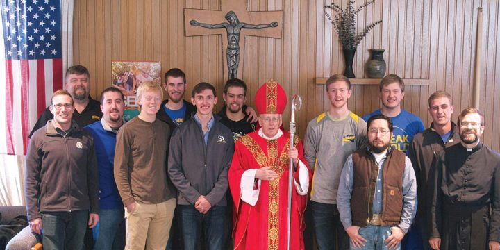 Newman Center Knights of Columbus Gather in Brookings with Bishop